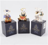 Lot 54-A collection of boxed Royal Crown Derby bear paperweights and figurines (12)
