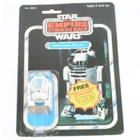 Lot 141-Star Wars The Empire Strikes Back Artoo-Detoo R2-D2 figure, by Kenner Toys, sealed on original blister pack box, with 'Free secret Star Wars action figure' advert on cover and back.