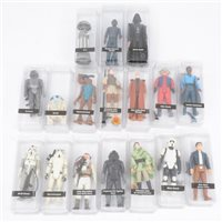 Lot 142-A full set of 97 original Star Wars figures, including all last 17 figures, by Kenner / Palitoy.