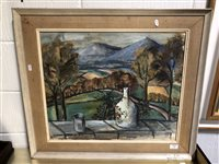 Lot 352-Moila Powell, Wicklow Mountains from Nora McGuiness's Cottage, ...