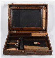 Lot 140-Vintage portable screenprinting/ mimeograph box