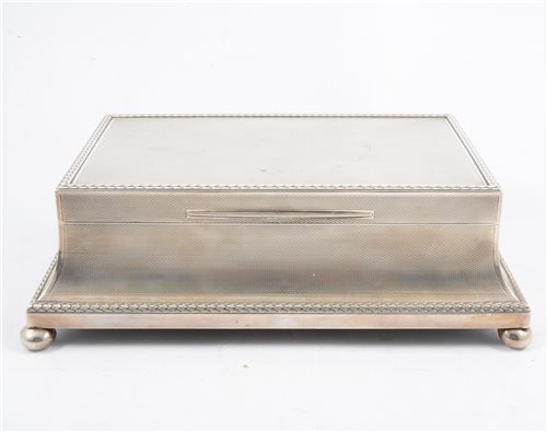 Lot 299-An impressive Asprey & Co, cigarette/ jewel casket, London 1922