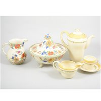 Lot 62-A quantity of Mason's hand-painted dinnerware, retailed by Lawleys, Regent Street