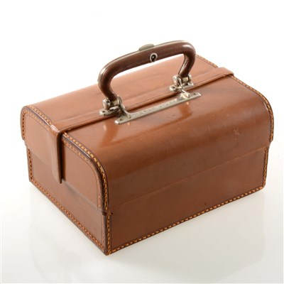 Lot 272 - A tan leather jewellery case with lift out tray