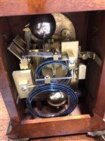 Image for Late Victorian figured walnut mantel clock