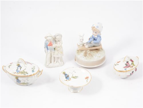 Lot 29-Bavarian bone china toy teaset; toy dinner service etc.