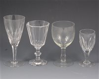 Lot 73-A large collection of table glassware.