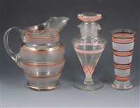 Lot 59-A collection of cocktail glasses, shakers, lemonade sets etc, [ 3 boxes]