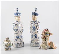 Lot 12-Two Chinese polychrome cups
