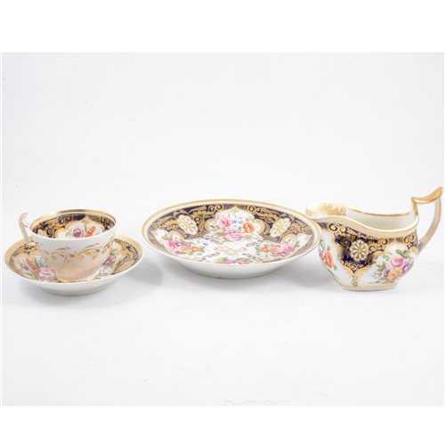 Lot 50-A Coalport part tea service, 19th century