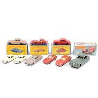 Lot 103-Lesney Matchbox 1-75 series models no.32 E Type Jaguar, no.65 Jaguar 3.8 Sedan, no.28 Mark Ten Jaguar x2, no.47 Jaguar SS100