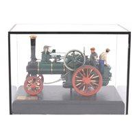 Lot 78-A Bassett-Lowke Burrell traction steam engine model, 15cm length, cased.