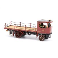 Lot 79-Bassett-Lowke scale white metal model of the 'Northampton Brewery Company' steam wagon, 16cm.