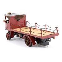 Lot 79-Bassett-Lowke scale white metal model of the 'Northampton Brewery Company' steam wagon, 16cm.