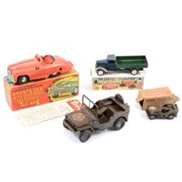 Lot 101-Tri-ang Minic tin-plate clockwork, including no.2 Sports Car with four speeds and reverse boxed