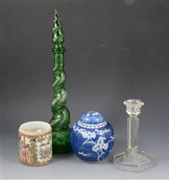 Lot 81-A quantity of assorted English, Continental and Asian ceramics and glass.
