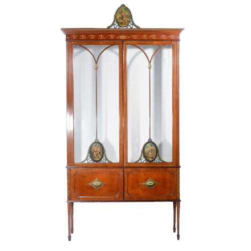 378 - Edwards & Roberts style mahogany display cabinet.