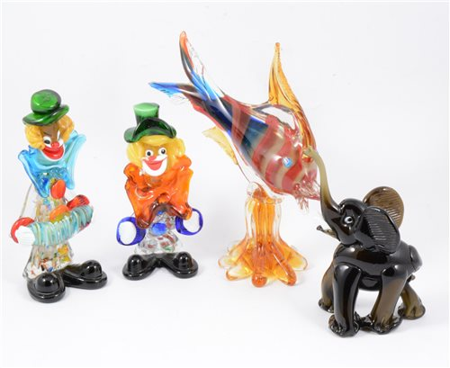 Lot 45-A collection of Murano glass figures