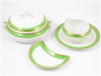 Lot 64-Large Losol Ware dinner service, retailed by Harrods