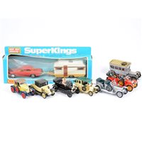 Lot 106-Matchbox SuperKings K-69 caravan touring set boxed, along with small selection of Corgi Classics, Matchbox Years of Yesteryear and Dinky toys, (8).