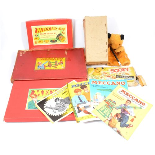 Lot 84-Collection of Meccano some with boxed sets, Magic Robot, Sooty with wand and a Sooty xylophone
