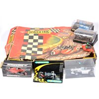 Lot 139-A part Scalextric MC31 Motorcycle & Sidecar Set, c1964, box a/f with loose parts
