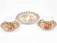 Lot 38-Royal Crown Derby part teaset, Imari pattern (14).