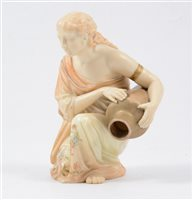 Lot 8-Royal Worcester model of an ancient Greek woman with amphora