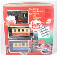Lot 53-LGB railways G scale passenger starter set no.78392, boxed.
