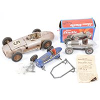 Lot 85-A JNF and two Schuco tin-plate model racing cars (3)