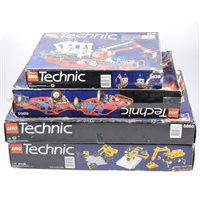 Lot 137-Four Lego Technic sets, unchecked.