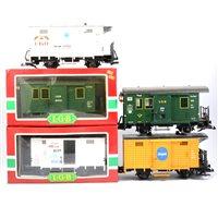 Lot 56-LGB railways G scale rolling stock wagons