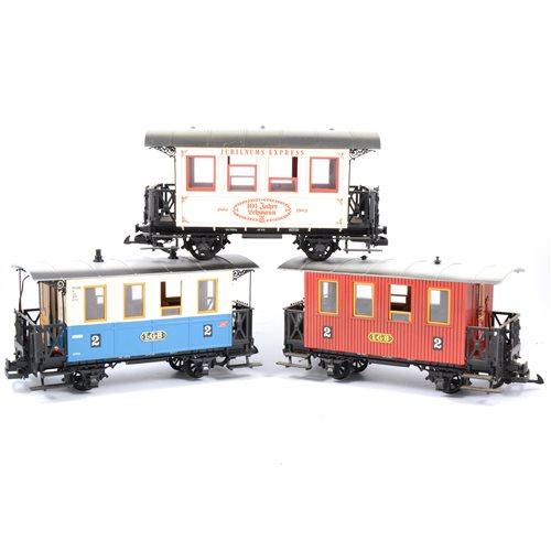 Lot 59-Ten LGB railways G scale passenger coaches