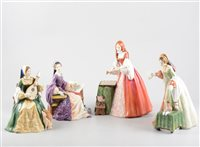 Lot 37-Four Limited Edition Royal Doulton Tudor series figures, boxed, comprising 'Lady Jane Grey' HN3680, 1754/5000, 'Mary Tudor' HN 3834, 343/5000