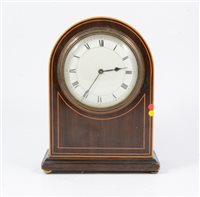 Lot 93-An Edwardian dome cased mantel clock, W Payne & Co
