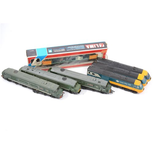 Lot 14-Lima OO gauge railways class 37 BR Loch Long 37081 diesel locomotive