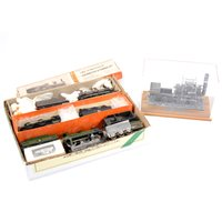 Lot 7-A selection of white metal model kit built locomotives