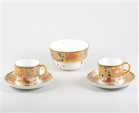 Lot 31-Royal Crown Derby teaware, Imari pattern number 8664