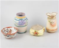 Lot 44-German tankards, decorative ceramics, paperweights and compacts.