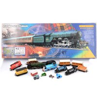 Lot 2-Hornby railways boxed Flying Scotsman etc.