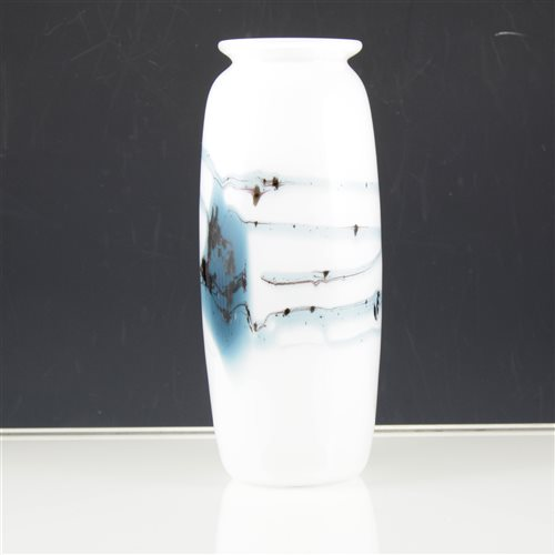 Lot 10-A glass Michael Bang 'Atlantis' vase for Holmegaard.