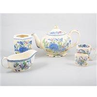 "Lot 62-Mason's ""Regency"" pottery part dinner and tea service."