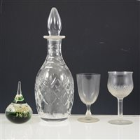 Lot 18-Two boxes of table glassware.