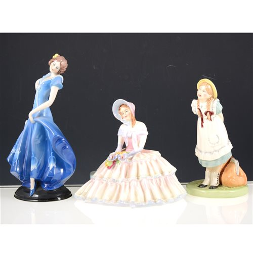 Lot 35-Collection of Royal Doulton and Coalport lady figurines (23).