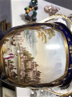 Image for Bloor Derby twin handle urn vase, painted with a view of Constantinople