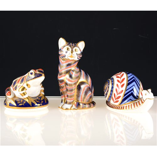 Lot 6-Three Royal Crown Derby Imari paperweights