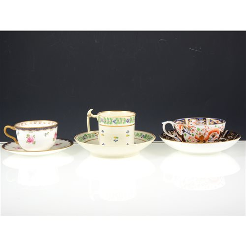 Lot 39-Collection of Victorian tea / coffee cups and saucers