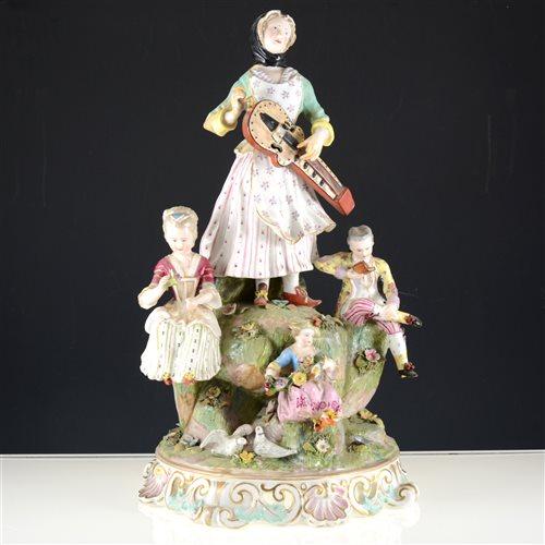 Lot 9-Large Meissen porcelain figural group, after J. J. Kandler.