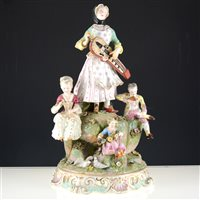 Lot 9-Large Meissen porcelain figural group, after J. J. Kandler.