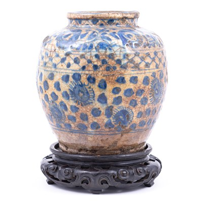 Lot 55-Chinese blue and white earthenware jar